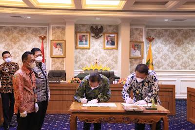 Pemprov Lampung Tandatangani Nota Kesepahaman Dengan Pertamina dan Bank BRI