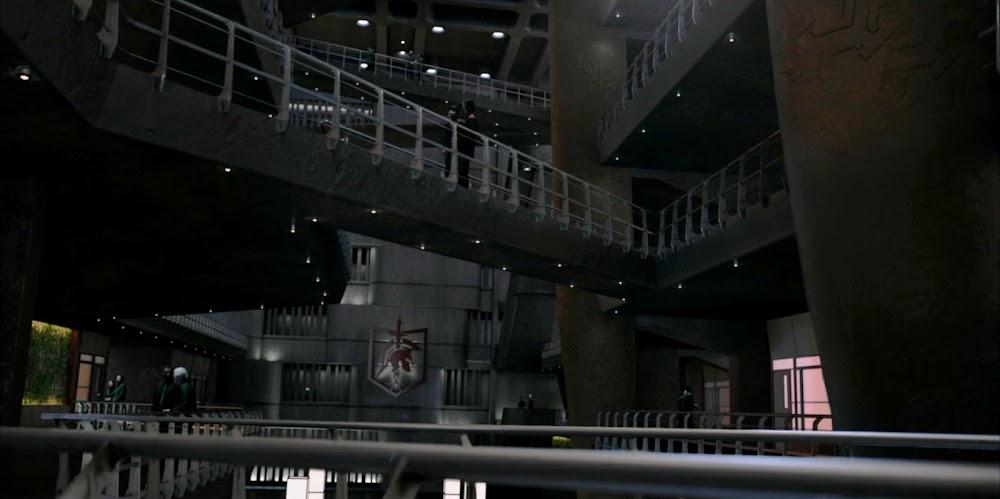 द एक्सपेंसे के सीज़न 5 में मार्स कॉलोनी इंटीरियर (एस्टेरिया नेवल बेस)