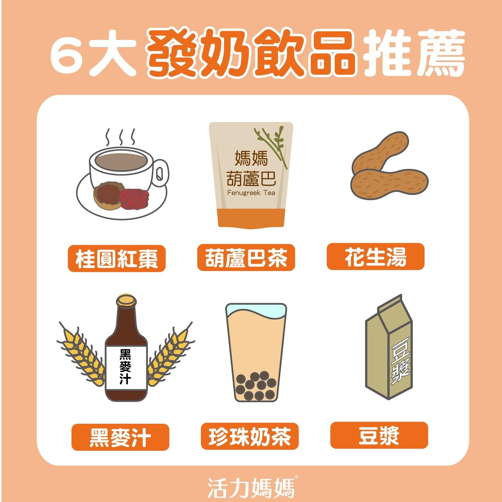 發奶食物有哪些?發奶食譜、退奶食物、塞奶食物懶人包
