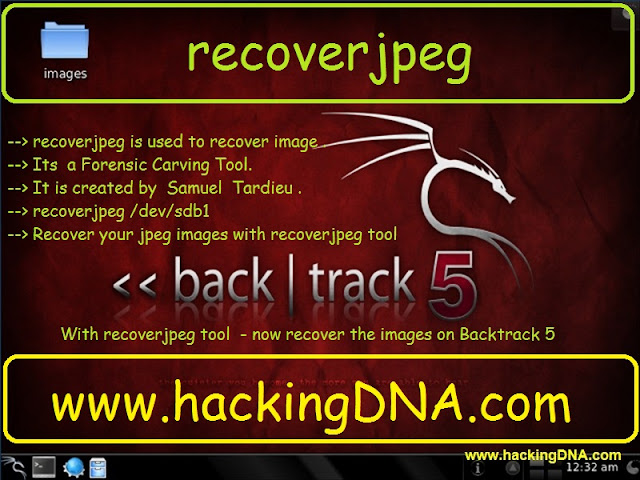 recoverjpeg used to recover jpeg images