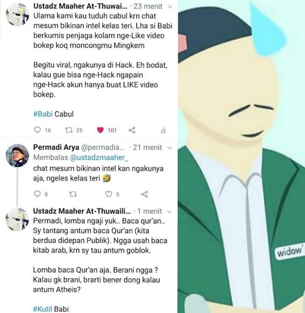 Abu janda vs Ustadz Maaher