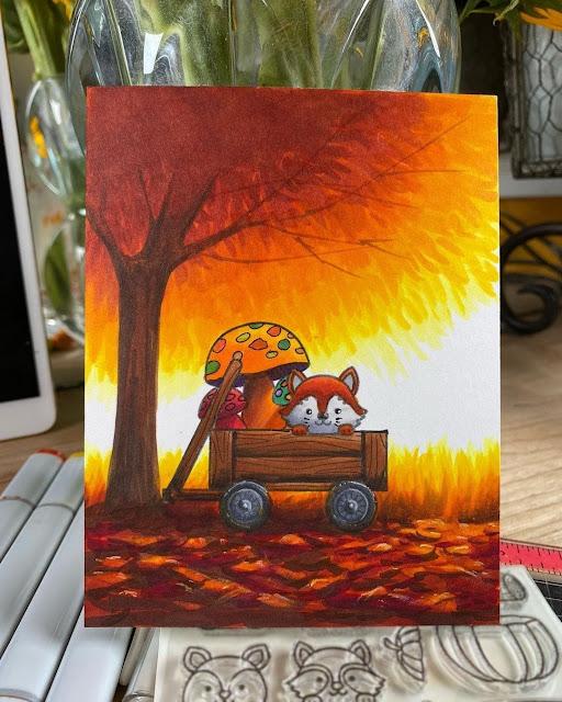 Sunny Studio Stamps: Fall Friends Customer Card by Sandy Allnock