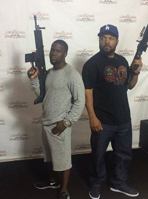"Kevin Hart and Ice Cube ""Ride Along 2"" photo shoot"