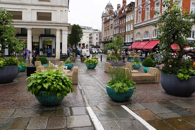 Covent Garden in the rain