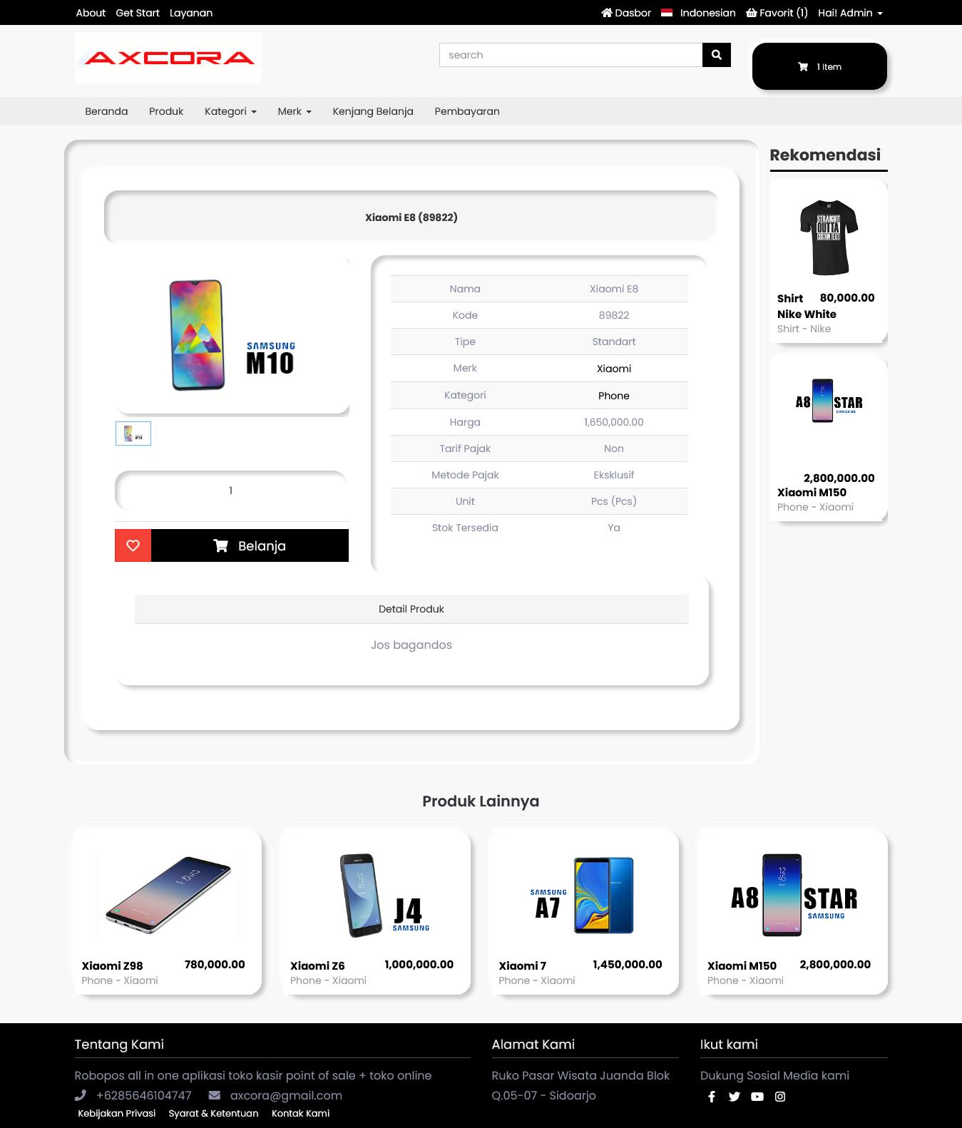 website toko