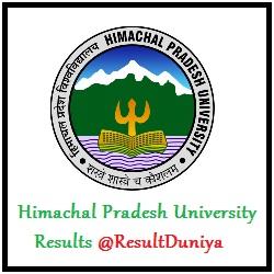 HPU Shimla Results
