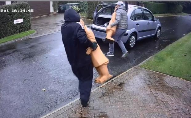 VIDEO: Raiders steal Terracotta Army replica statues in brazen raid on Menston home