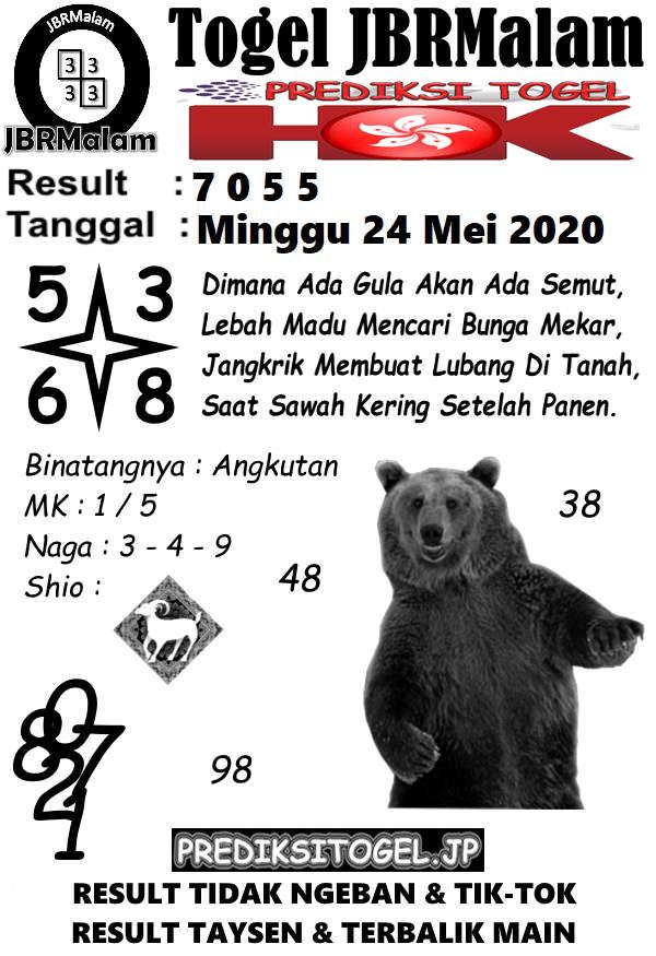 Prediksi HK Malam Ini 24 Mei 2020 - JBR Malam HK