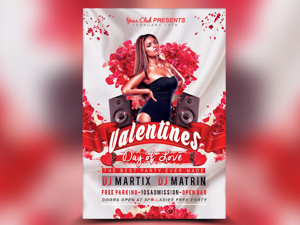 Download Valentine's Day Flyer V2 - FREE PSD Template