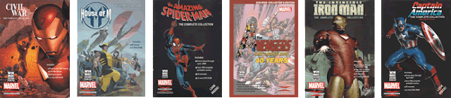 Covers for various DVD-ROM Collections of Marvel Comics by GIT, Corp.