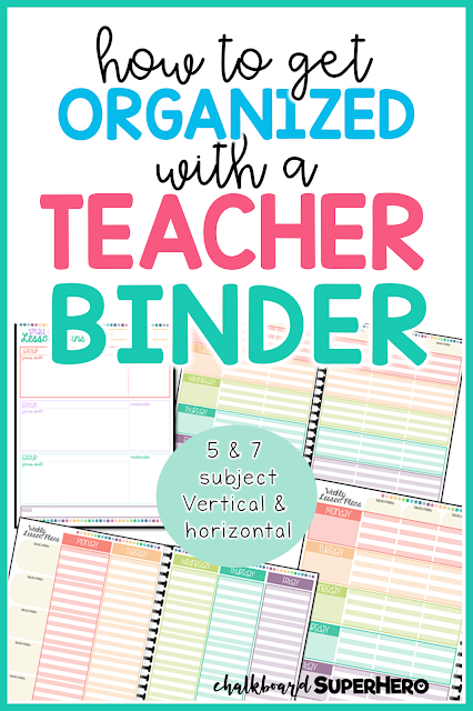 how to get organized with a special education teacher binder