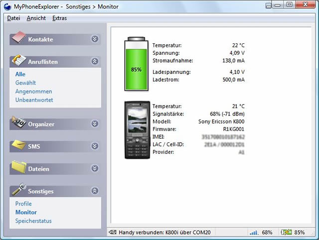 MyPhoneExplorer - Δωρεάν εφαρμογή διαχείρισης Smartphone από τον υπολογιστή