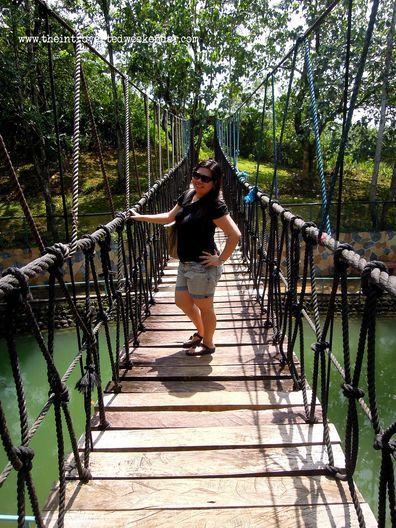 Hanging bridge at Caliraya Resort Club