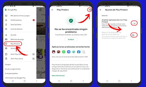 No puedo instalar aplicación en mi android - Deshabilitar Play Protec [ Activar App de instalación Desconocidas ]