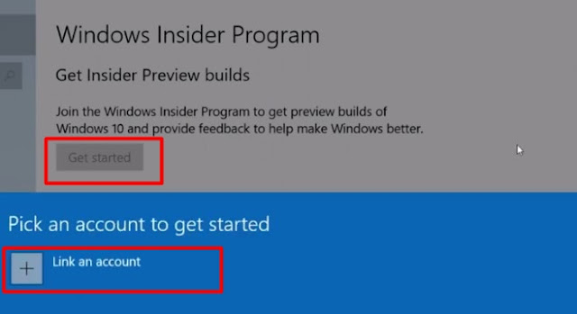 link your Microsoft account to Windows insider program