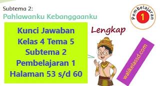 Kunci Jawaban Kelas 4 Tema 5 Subtema 2 Pembelajaran 1 Halaman 53 54 55 56 57 58 59 dan 60