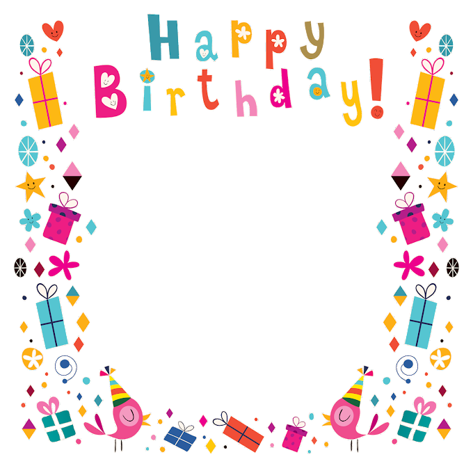 Birthday Greeting card, Happy Birthday poster background shading, happy birthday frame illustration, text, rectangle png by: pngkh.com