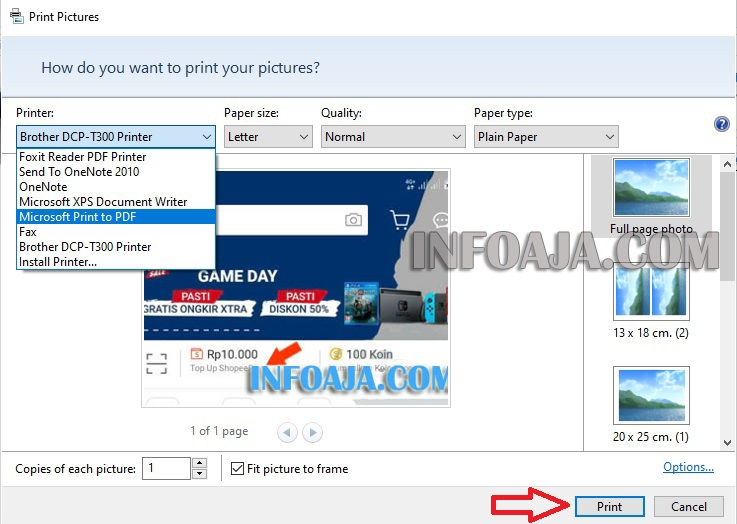 Microsoft Print to PDF Windows 10
