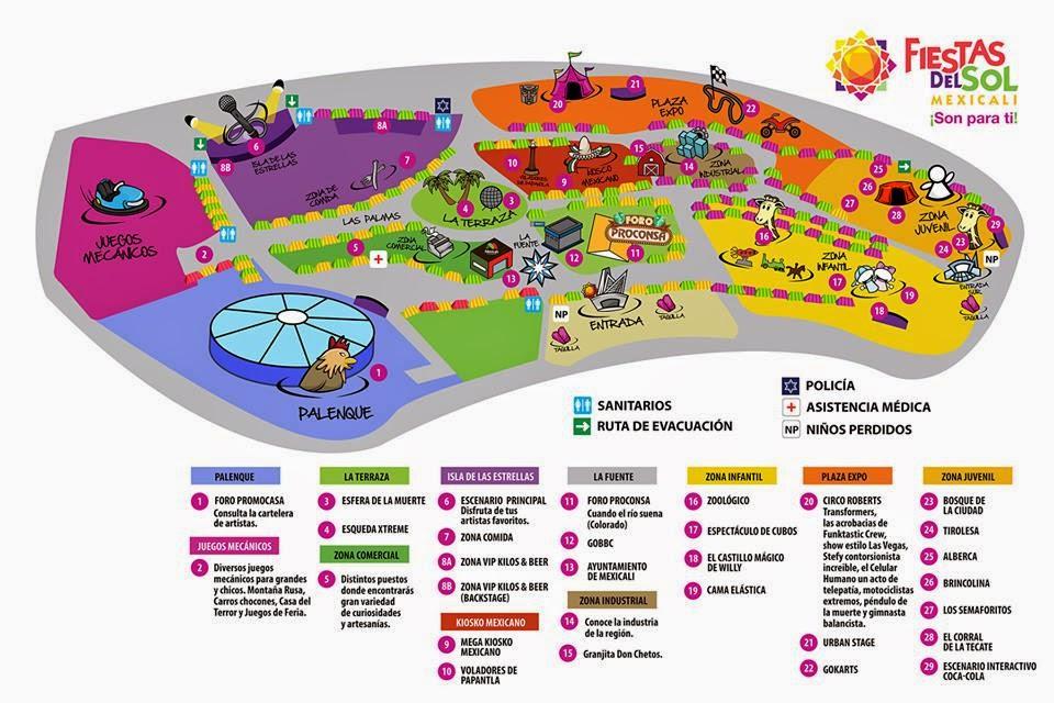 Fiestas del sol 2014 mexicali palenque e isla de las for Eventos plaza del sol