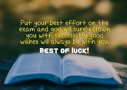 Message For Good Luck In Exam