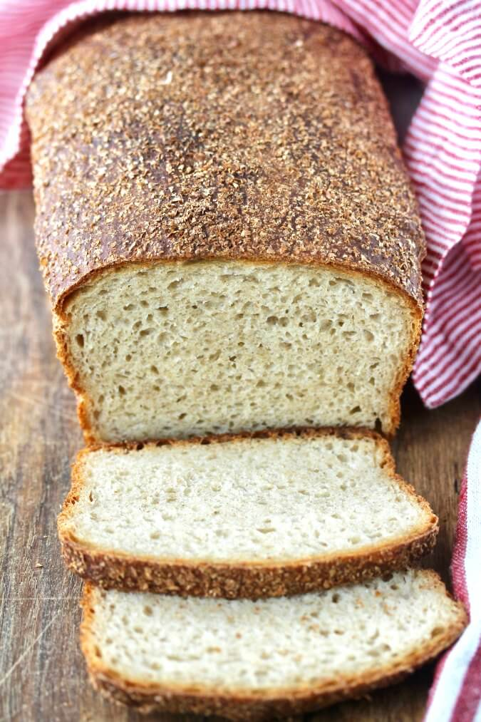 No Knead Light Wheat Sandwich Bread