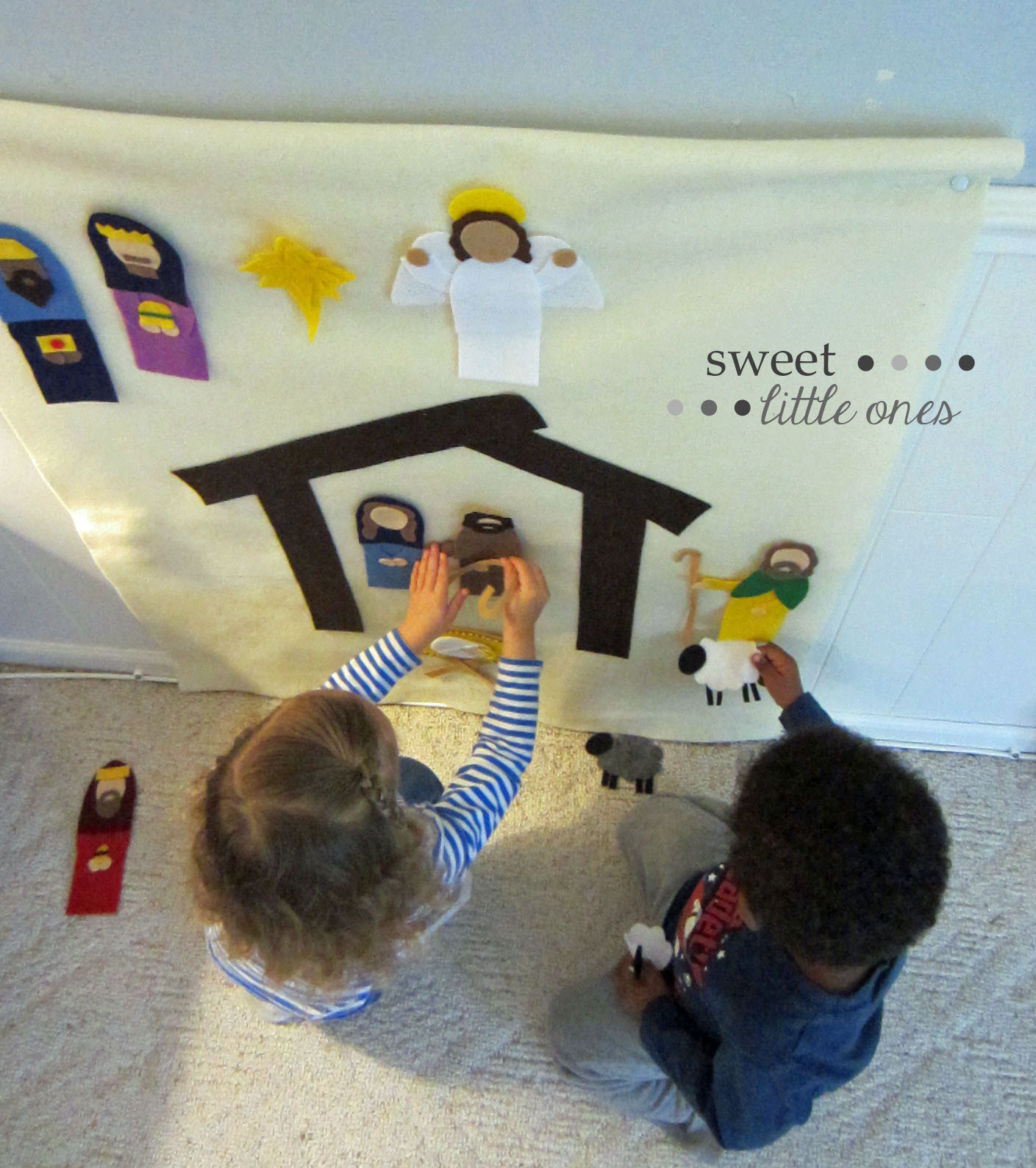 DIY Felt Nativity Scene for Kids - http://www.sweetlittleonesblog.com