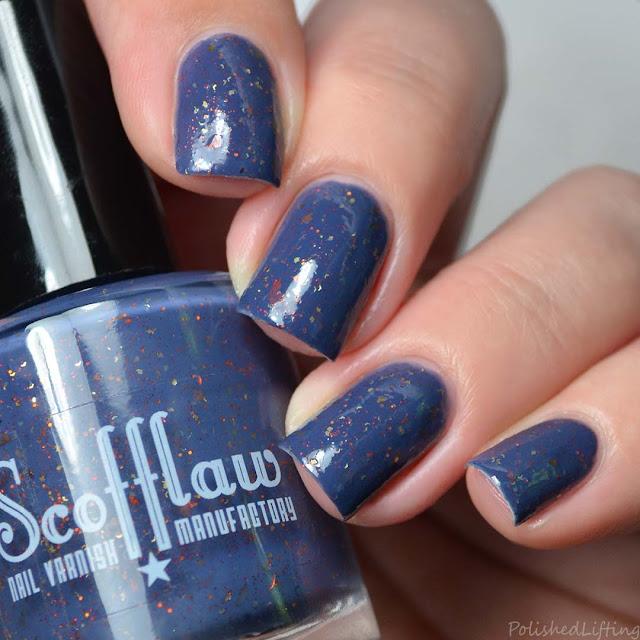 navy creme nail polish