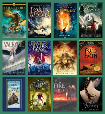 Mythology-based fiction, Percy Jackson readalikes, Rick Riordan readalikes