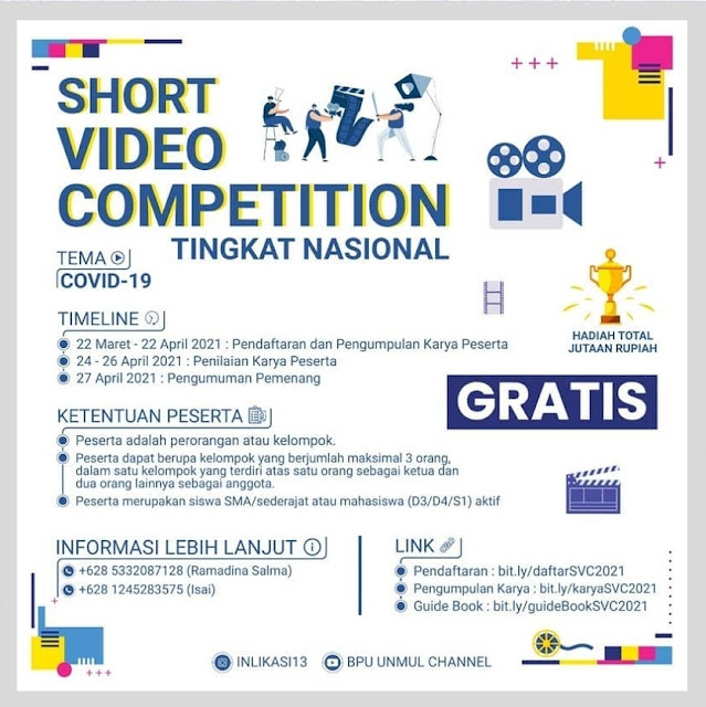 SHORT VIDEO COMPETITION 2021 TINGKAT NASIONAL