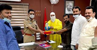 पुलिस कमिश्नर को नशा मुक्त युवा भारत टीम ने किया अंबेडकर रत्न से  सम्मानित