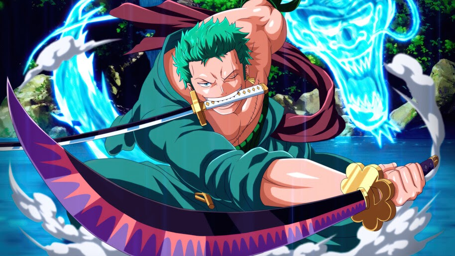 Zoro, 3 Sword Style, Katana, One Piece, 4K, #6.784