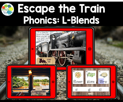 Escape the Train: Digital L-Blends Activity | Apples to Applique