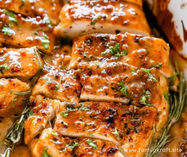 DELICIOUS BAKED HONEY MUSTARD CHICKEN