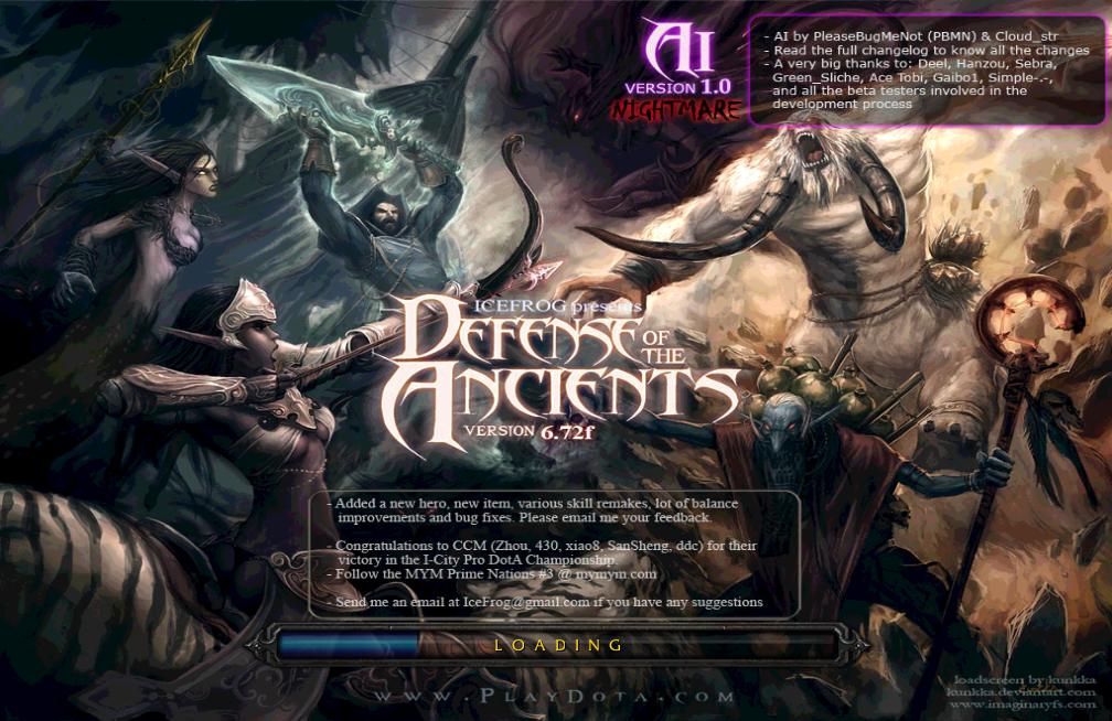 Dota V6 72f Ai 1 0 Nightmare Released Download Lancraft