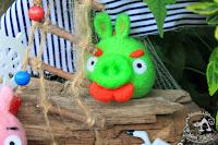 Świnka Angry Birds z Wąsem - Brelok