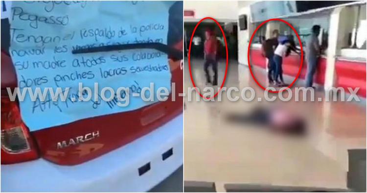"""""""Les vamos a seguir partiendo la madre"""", Sicarios de """"La Tropa del Infierno"""" ejecuta a taxista al interior de la terminal de la ADO en Coatzacoalcos, Veracruz"""