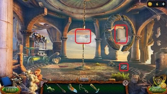 забираем плитку на полу, висящую деталь и манускрипт в игре затерянные земли 4 скиталец