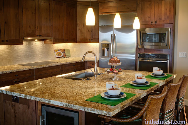 bright kitchen cabinets, and busy countertop patterns give the attention too much to look at