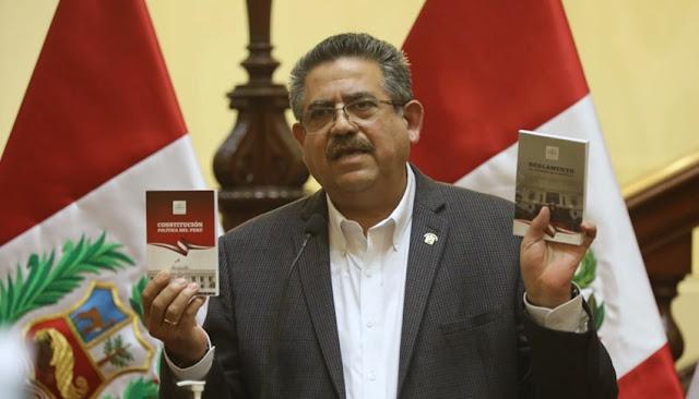 Congreso rechaza admitir a debate moción de censura contra Manuel Merino