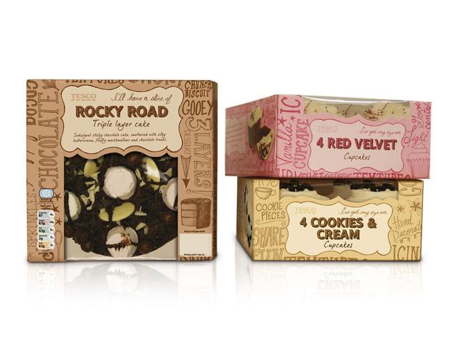 Red Velvet Cake Recipe Uk Tesco: Tesco Standard Plus Cakes On Packaging Of The World
