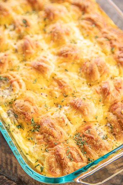 Sausage Cream Cheese Crescent Breakfast Casserole Plain