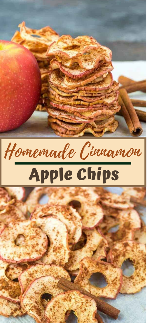 Homemade Cinnamon Apple Chips #healthyfood #dietketo #breakfast #food