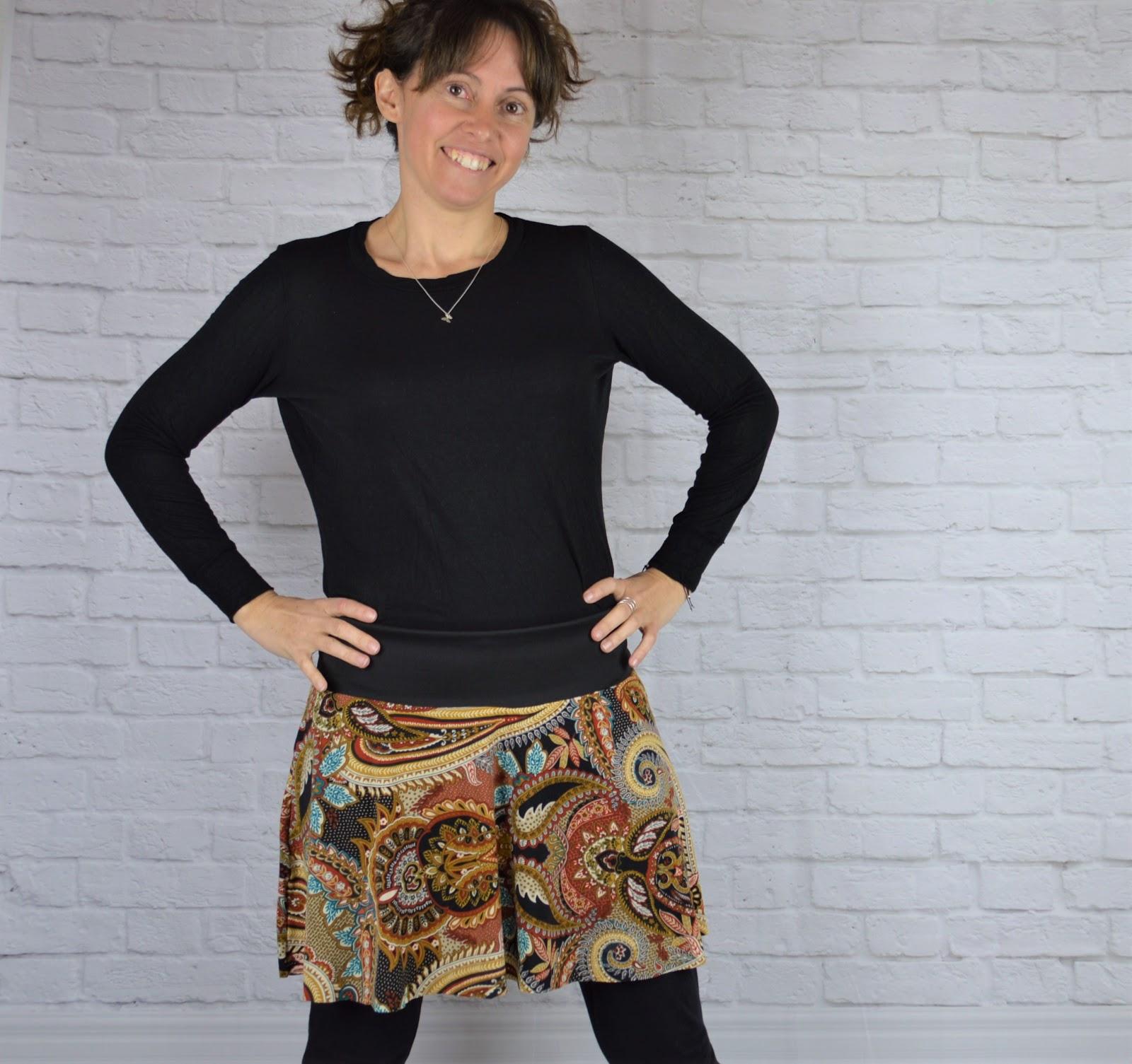 Falda handmade por uVe estampado étnico