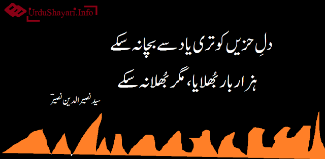 Urdu shayri image 2 lines poetry on dil and yaad. best  lines
