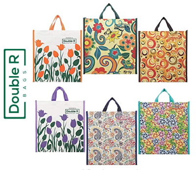 DOUBLE R BAGS Canvas Shopping Bag With Attractive Colors and Patterns
