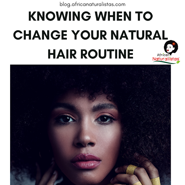 KNOWING WHEN TO CHANGE YOUR HAIR ROUTINE