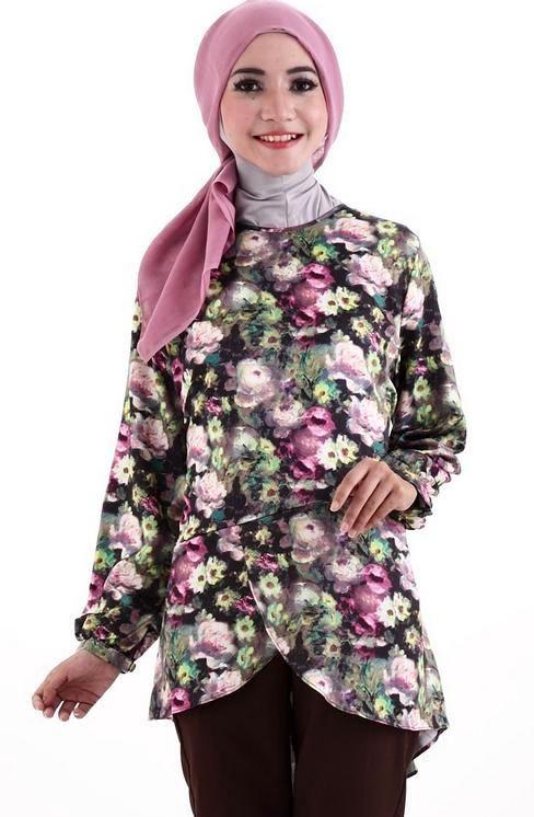 40 model baju batik remaja putri muslim lengan panjang terbaru