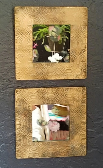 DIY Grungy Framed Mirrors - Thrift Shop Flip