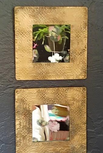 DIY Grungy Framed Mirrors - Thrift Shop Flip