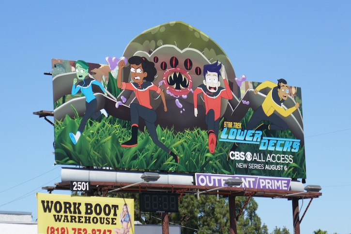 Star Trek Lower Decks cut-out billboard